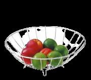 Fruteira Redonda 29cm Vantaggio Cozinha Aço Cromado Future