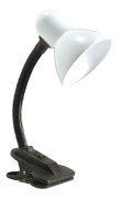 Luminária De Mesa Articulada Viking P Branco Presilha/garra