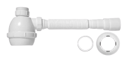 Sifão Universal C/ Copo P/ Pias E Tanques 2 Branco - Blukit