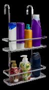 Suporte P/shampoo Sabonete Box-encaixe-porta Shampoo Aço