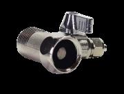Valvula Fechamento 3 Vias Metal 1/2 X1/2 Pol X Tubo 1/4