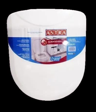 Assento Sanitário Almofadado Icasa Luna Branco Astra