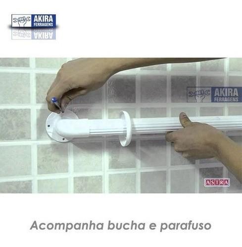 Barra Apoio Astra Acessib Segurança 150kg Box Banheiro 30cm