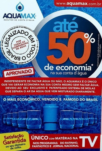 Bloqueador De Ar Redutor De Conta D'água - Aquamax Original