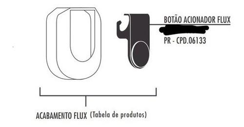 Botão Do Acionamento Fabrimar Flux Preto 06133