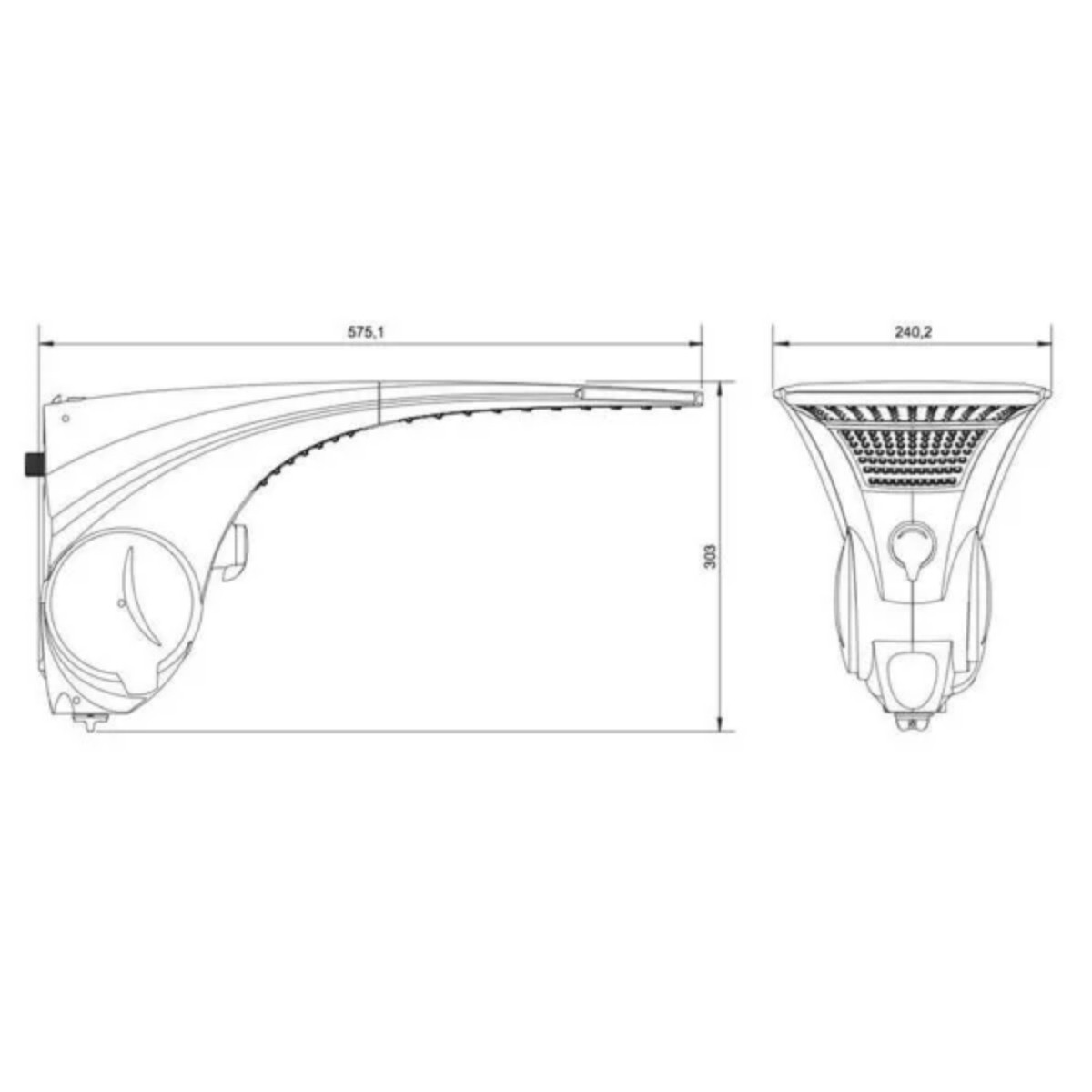 Chuveiro Lorenzetti Duo Shower Quadra Turbo Eletrônico 110v 5500w
