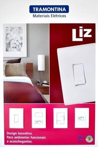 Conjunto Interruptor Simples + Tomada 10a Tramontina Liz 3