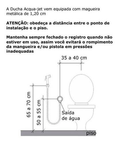 Ducha Higiênica Digital Line Cromado 1/2 2195-dl-cr Fabrimar