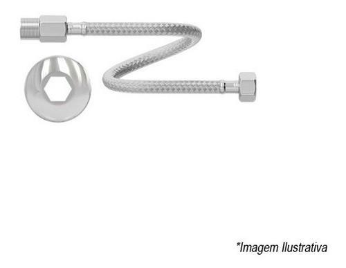 Engate Flexível Aço Inox M - F 40cm - Censi 7545