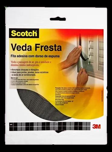 Fita Adesiva Espuma 3m Veda Fresta 19mm X 5m Janelas Portas