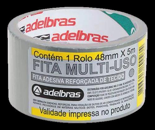 Fita Silver Tape Resistente Cinza Adelbrás Multiuso 5 Metros