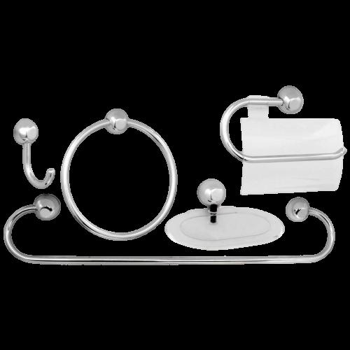 Kit Acessórios para Banheiro 5 Peças Samba Fit Japi Cromado
