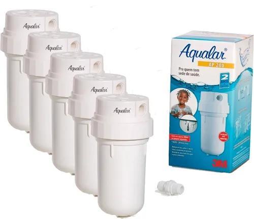 Kit Com 5 Filtros Água Ap200 Branco 3m Aqualar