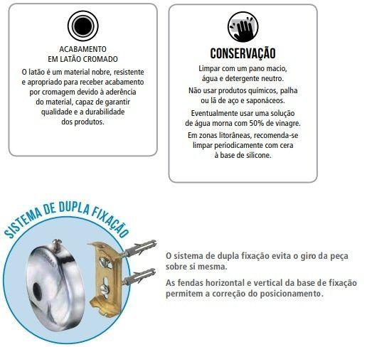 Kit de Acessórios para Banheiro 5 Peças Metal Jackwal Standard
