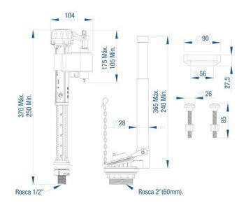 Mecanismo Kit Completo P/cx Acoplada Unv Superior Censi 9563