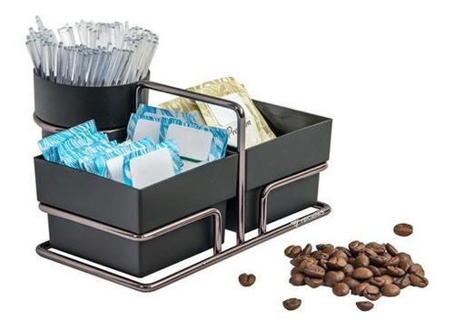 Organizador Porta Sachês De Açúcar Adoçante Mexedor