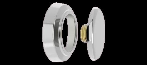 Plug De Latão C/ Canopla Cromada Rosca 1/2'' - Blukit
