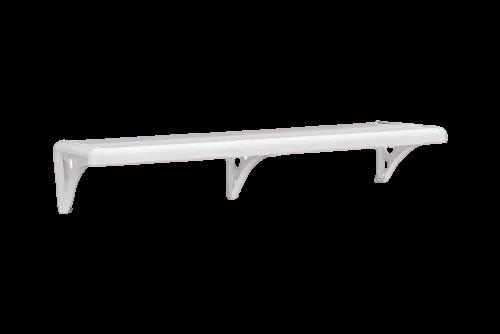 Prateleira Pvc C/ Suporte Branca 60x20cm Astra Pms/60*br
