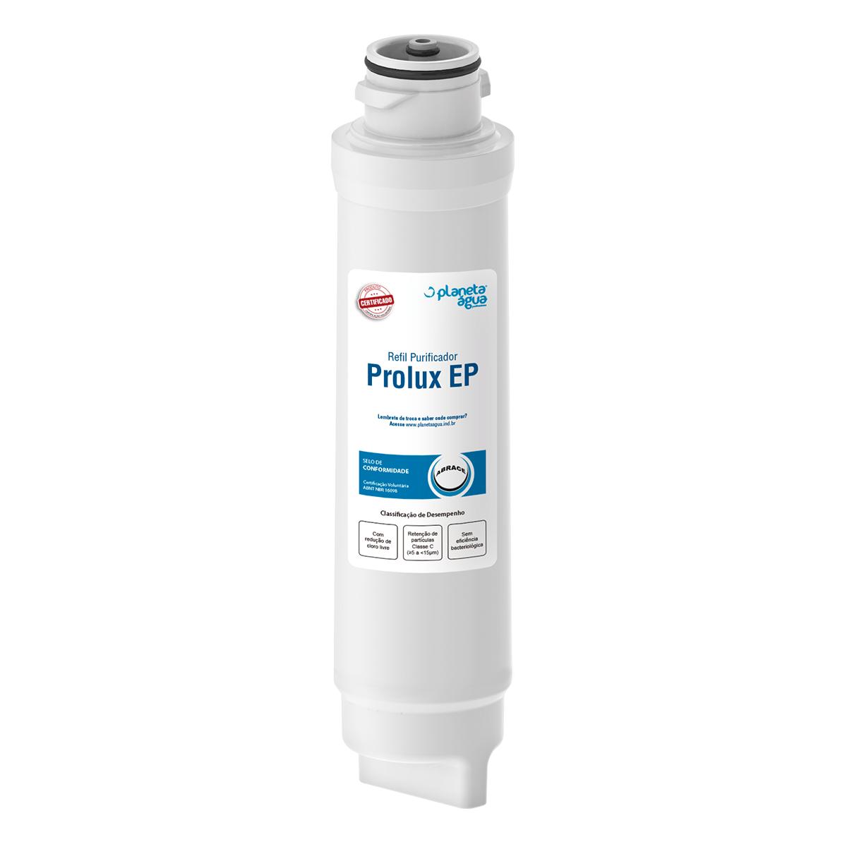 Refil Filtro Planeta Água Prolux EP para Purificador de Água Electrolux PE10B e PE10X - Compatível