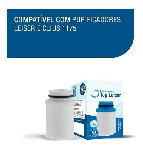 Refil Filtro Vela Purificadores Top Leiser Clius - Branco