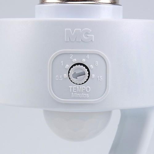 Sensor Presença Com Fotocélula P/ Lâmpada Soquete E27 Mpq40f