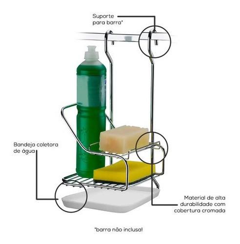 Suporte Para Sabão/ Detergente/ Esponja Para Barra 2422