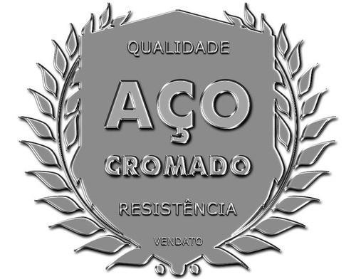 Toalheiro Parede Prateleira Residência Hotel 55cm Aço 1600