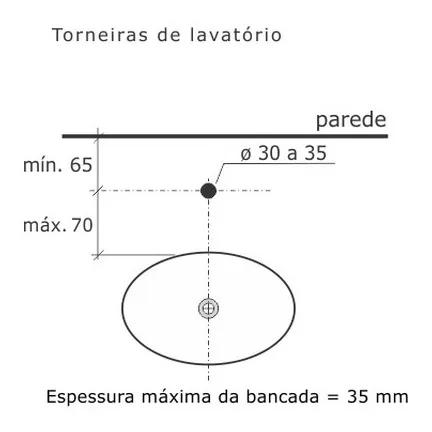 Torneira De Banheiro Creato Banca Cromado 1/2 1192 Tigre Fabrimar