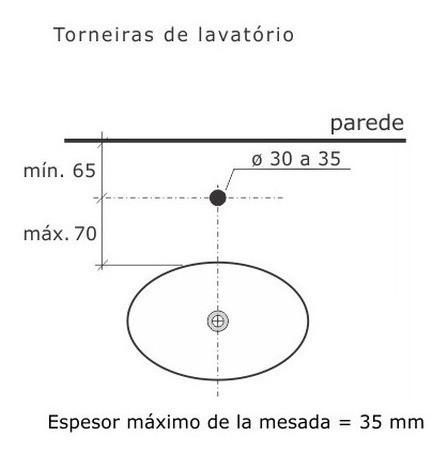 Torneira De Lavatório Aquarius Banca Crom. 1/2 1190 Fabrimar