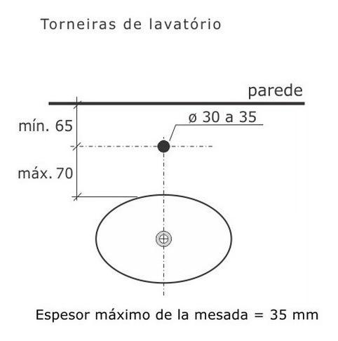 Torneira De Lavatório Ascot Cromado 1194-as Fabrimar