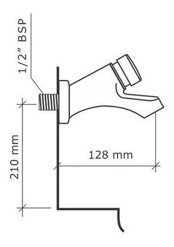 Torneira De Lavatório Biopress Crom Parede 1/2 1182 Fabrimar