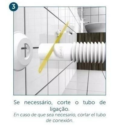 Tubo De Ligação Vaso Sanitário Ajustável Cromado - Blukit