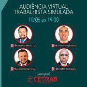 10/06 - 19h - Audiência Virtual Trabalhista Simulada - Profs. Marcos S., Leone P., Farley F. e Renato S.