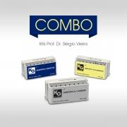 Combo Prof. Dr. Sérgio Vieira ( Kits Dentistica Acabamento - Ref.6427 / Kit Dentistica Carbide - Ref.6545 / Kit Dentistica Indiretos - Ref.6429) - KG SORENSEN