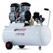 Compressor Odontológico Evotech Horizontal 50 Litros - 2 HP - 10 PCM - p/ até 2 consultórios