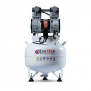 Compressor Evotech 40 Litros - 2 HP - 10 PCM- 220V + Bomba E-Vac 1HP