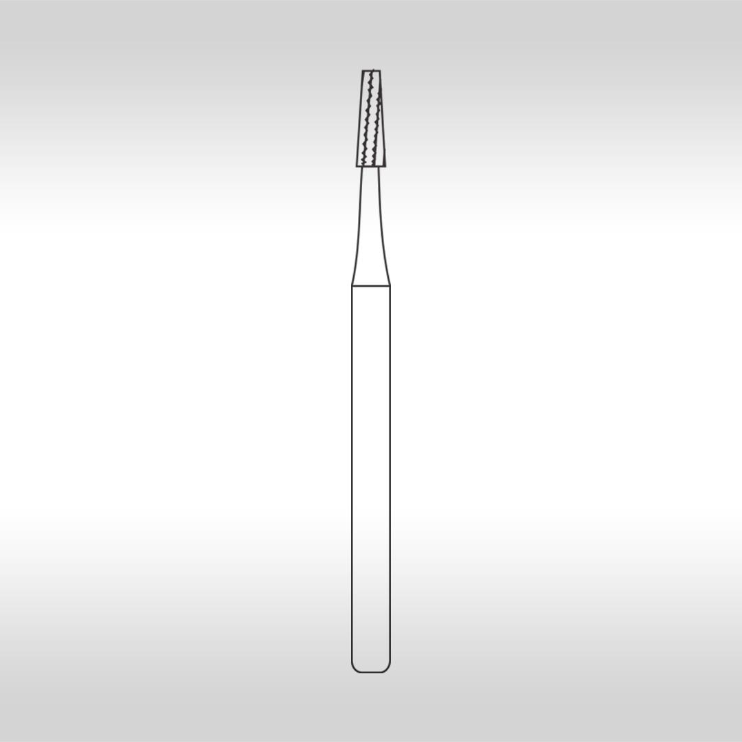 Broca Carbide FGC 701 Cônica Denteada Longa  (Alta Rotação - Cirúrgica) - KG Sorensen
