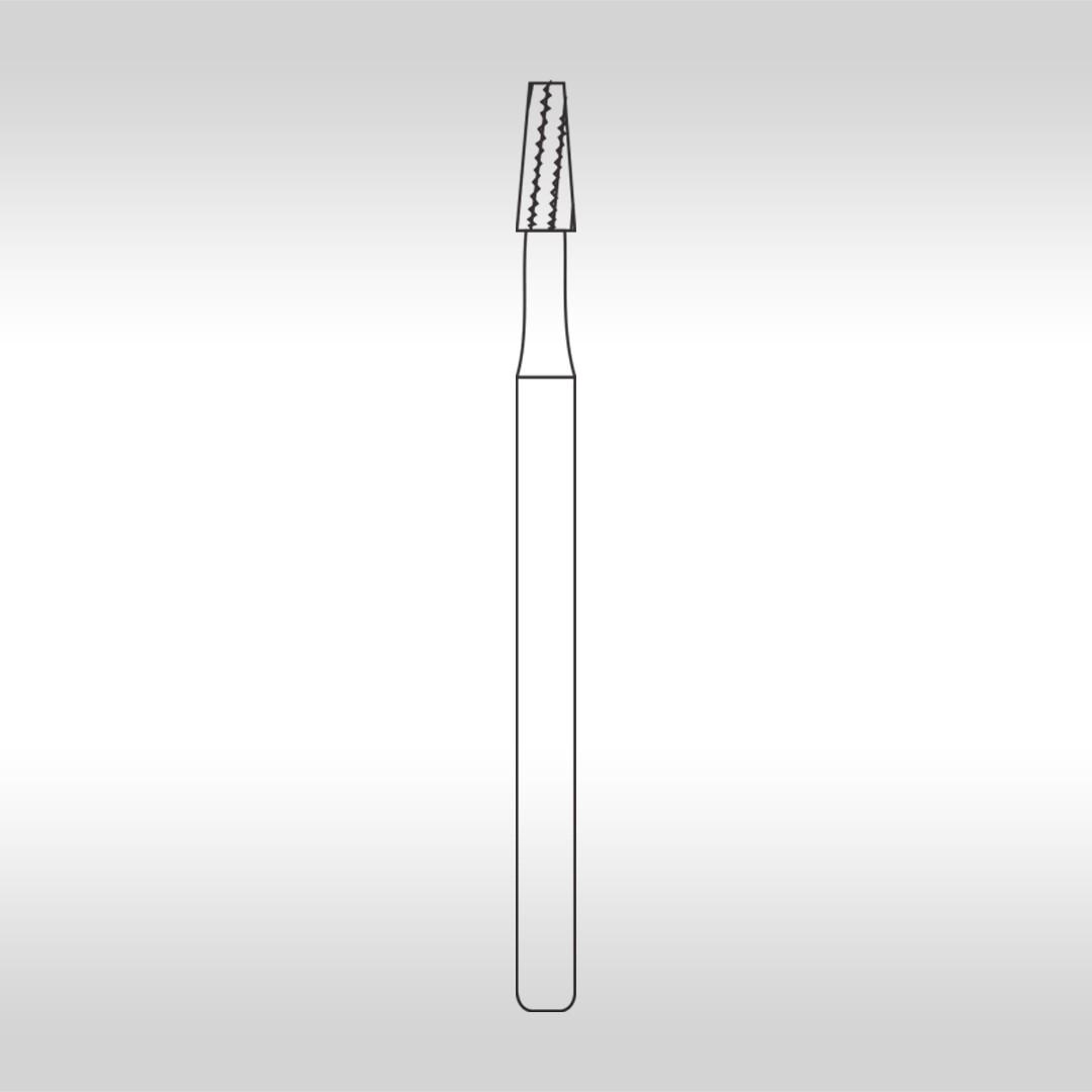 Broca Carbide FGC 702 Cônica Denteada Longa  (Alta Rotação - Cirúrgica) - KG Sorensen
