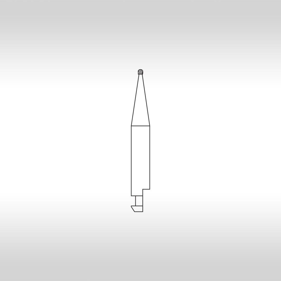 Broca Carbide CAHC 1/2 Esférica  (Baixa Rotação - Haste Curta) - KG Sorensen