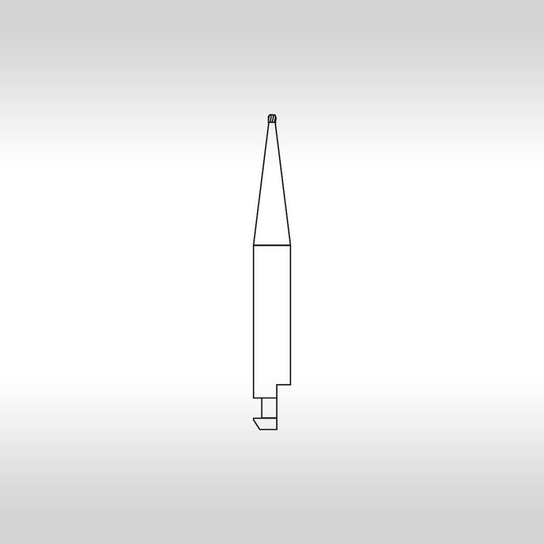Broca Carbide Esférica CAHC 1/4 (Haste curta) - KG Sorensen