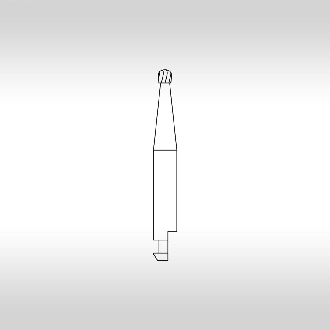 Broca Carbide Esférica CAHC 4 (Haste curta) - KG Sorensen