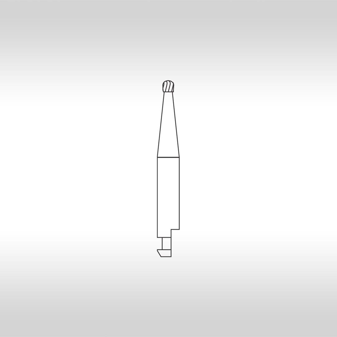 Broca Carbide Esférica CAHC 6 (Haste curta) - KG Sorensen