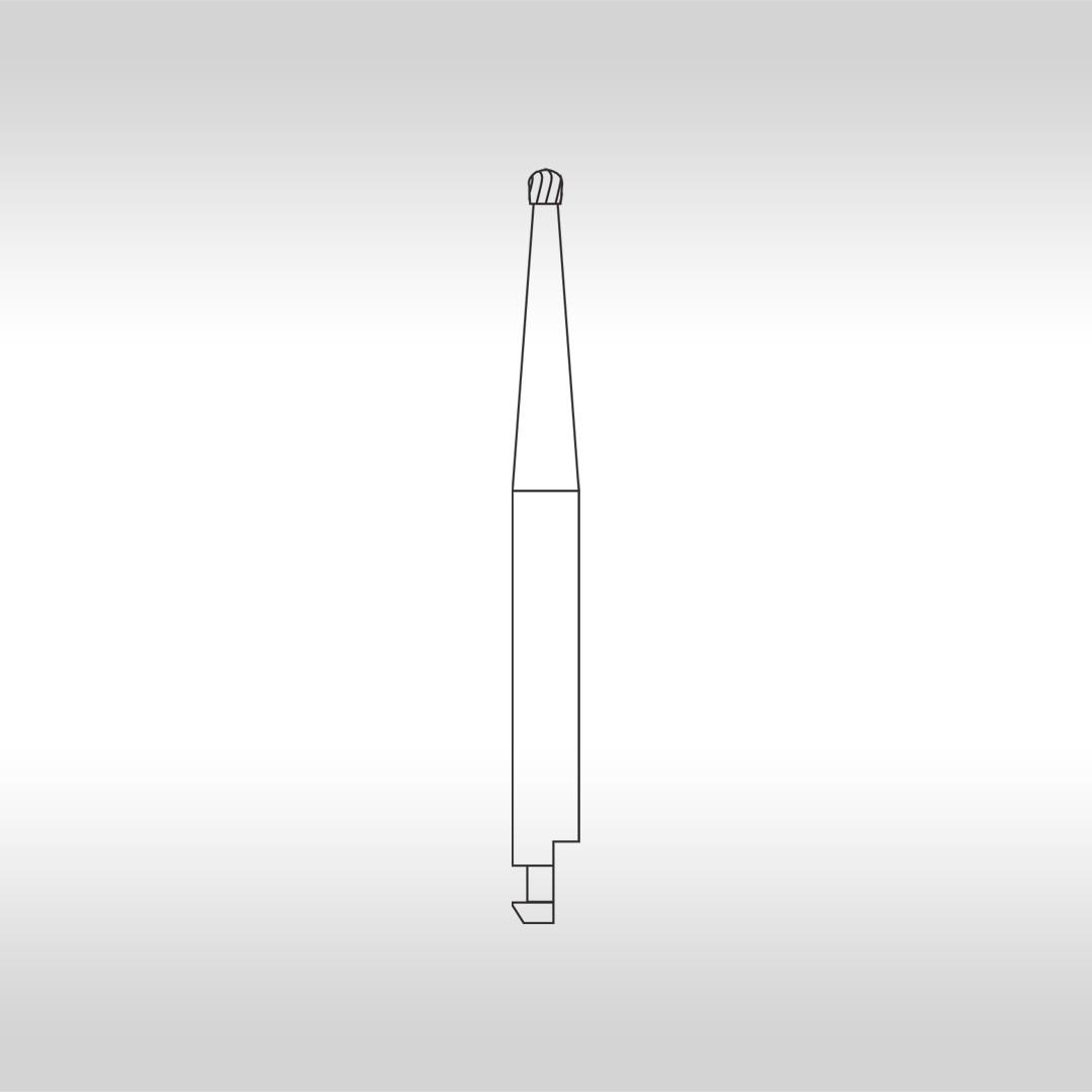 Broca Carbide Esférica CAC 3 (Baixa Rotação - Cirúrgica) - KG Sorensen