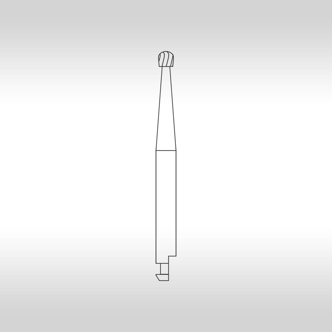 Broca Carbide Esférica CAC 6 (Baixa Rotação - Cirúrgica) - KG Sorensen
