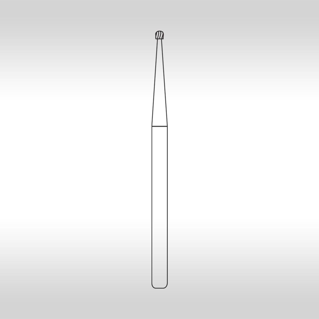 Broca Carbide FGC 1 Esférica Longa  (Alta Rotação - Cirúrgica) - KG Sorensen