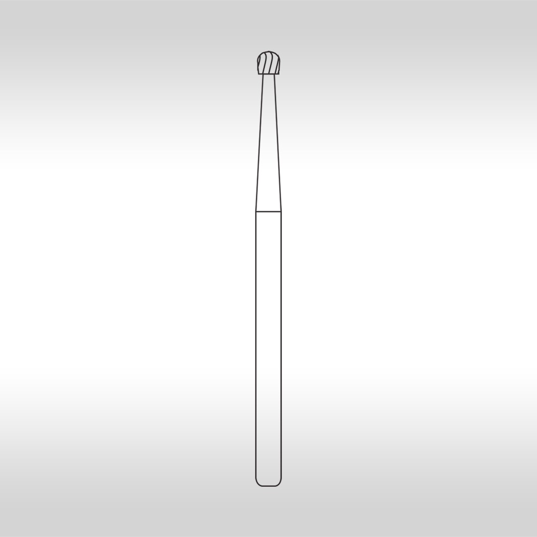 Broca Carbide FGC 4 Esférica Longa  (Alta Rotação - Cirúrgica) - KG Sorensen