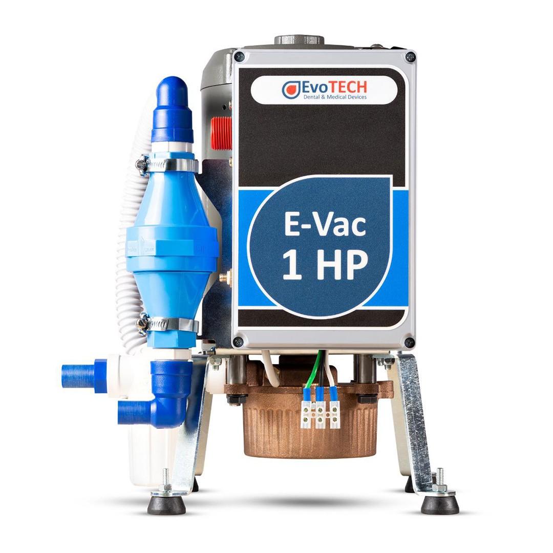 Compressor Evotech 50 Litros - 2 HP - 10 PCM- 220V + Bomba E-Vac 1HP