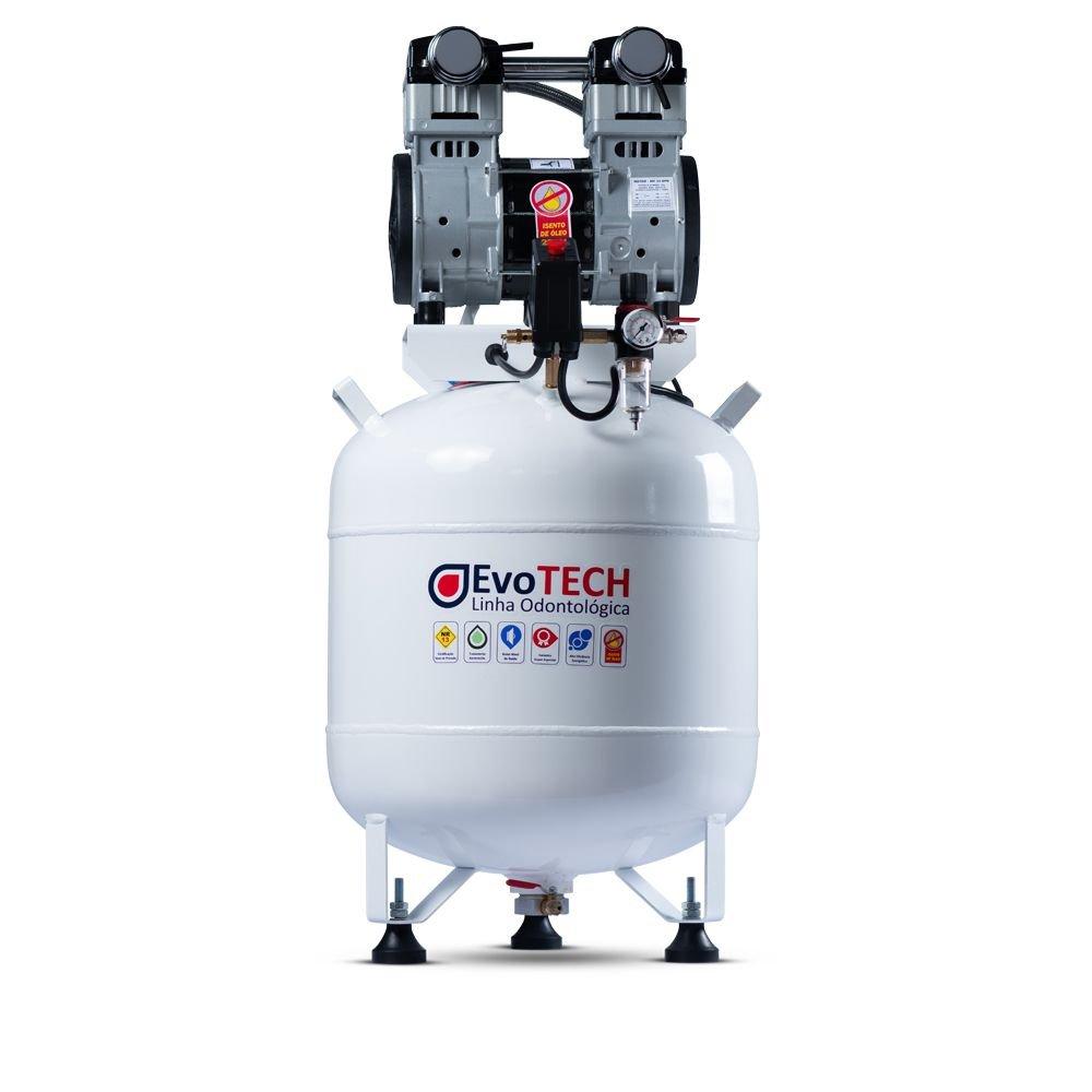 Compressor Evotech 65 Litros - 2 HP - 10 PCM- 220V + Bomba E-Vac 1HP
