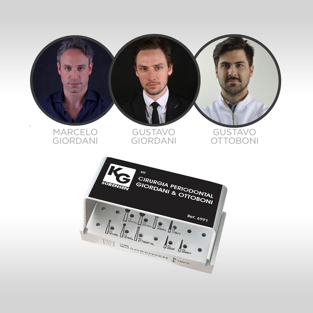 Kit Cirurgia Plástica Periodontal Giordani & Ottoboni - Ref.6991 - KG SORENSEN