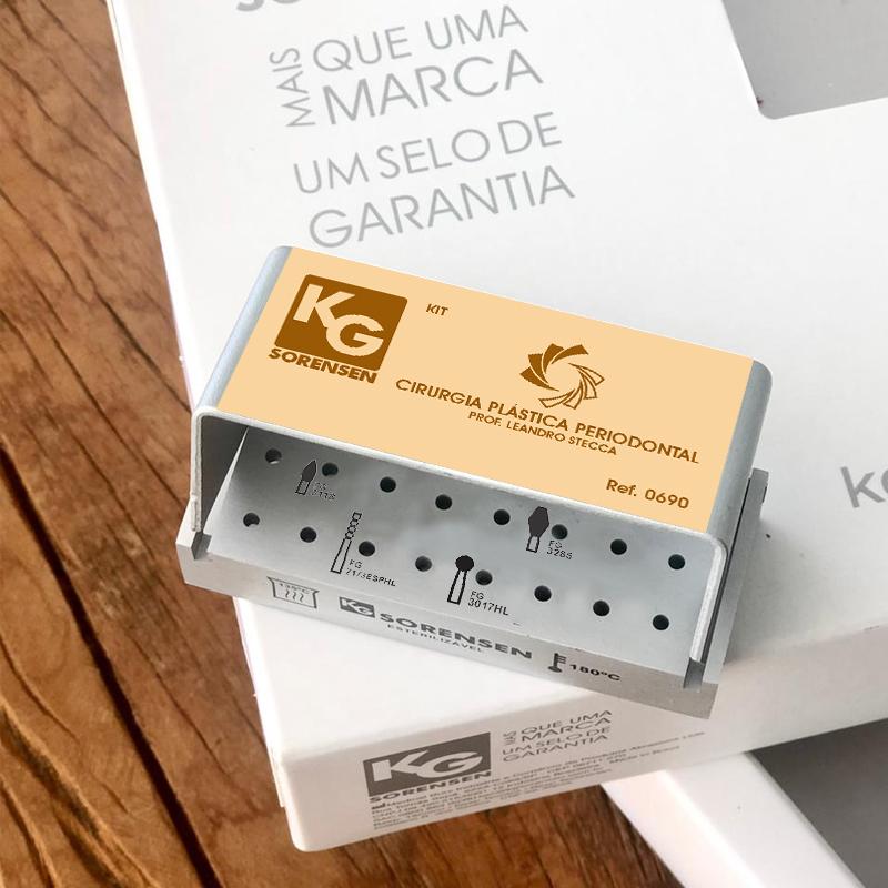 Kit Cirurgia Plástica Periodontal Prof. Leandro Stecca - Ref.0690 - KG SORENSEN